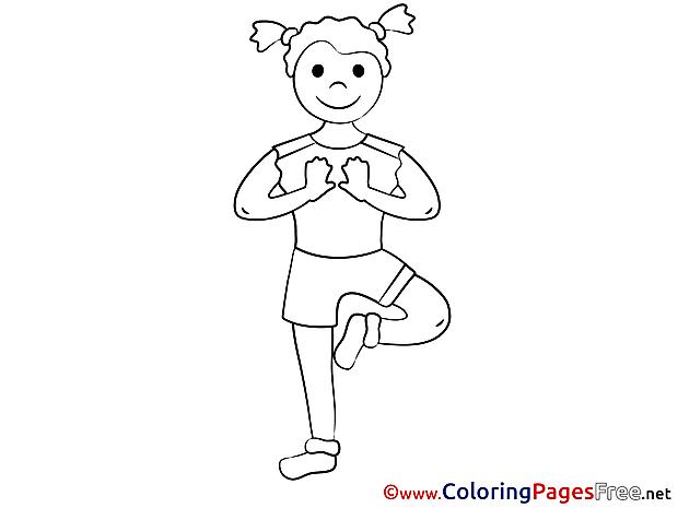 Meditation printable Coloring Sheets download