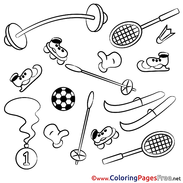 Objects Equipment for Children free Coloring Pages