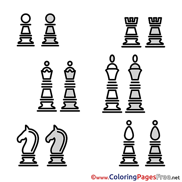 Pieces for free Coloring Pages download
