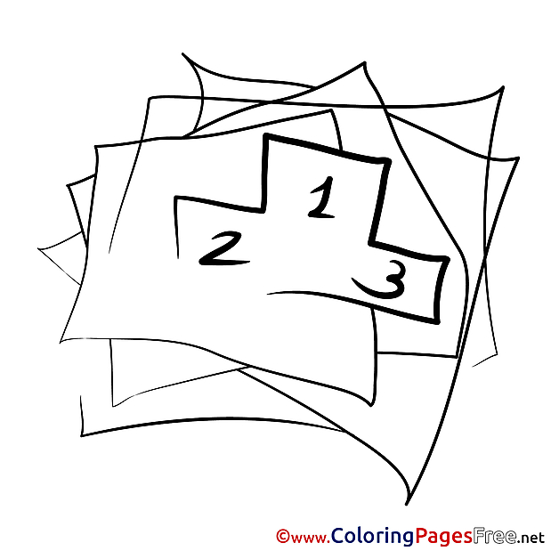 Places for Kids printable Colouring Page