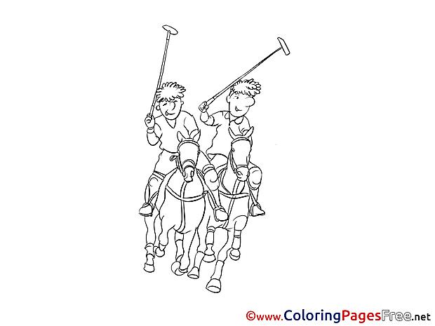 Polo printable Coloring Sheets download