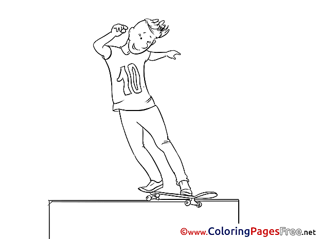 Skate for Children free Coloring Pages