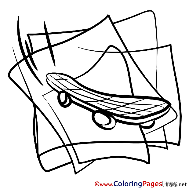 Skateboard download printable Coloring Pages