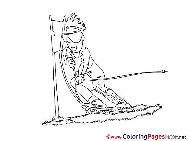 Ski free printable Coloring Sheets