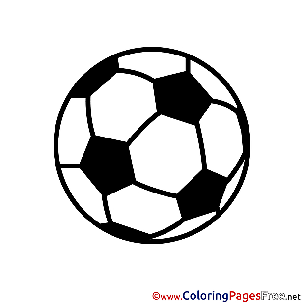 Soccer Ball Colouring Page printable free