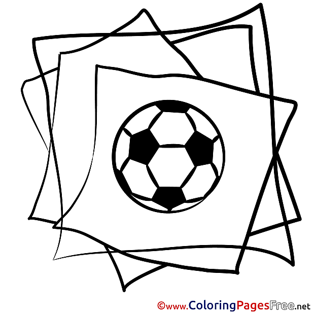 Soccer printable Coloring Pages for free