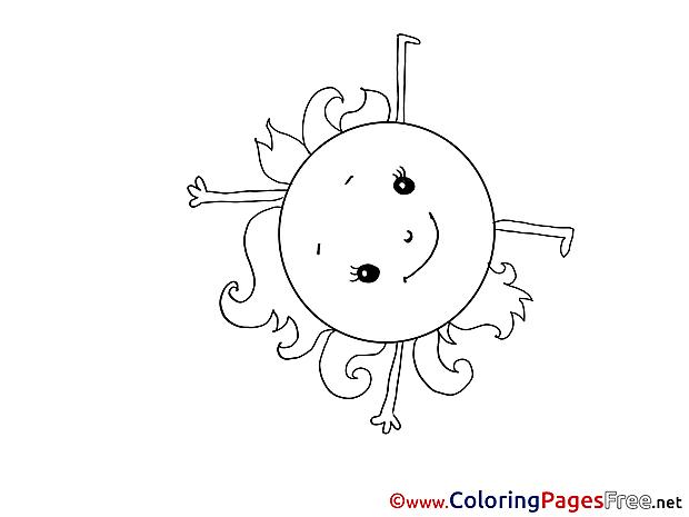 Sun printable Coloring Sheets download