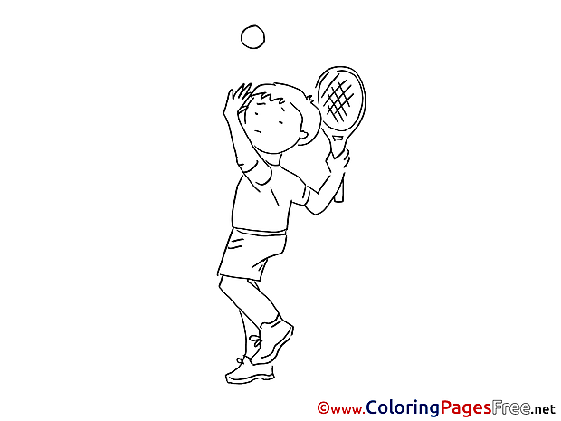 Tennis for Children free Coloring Pages