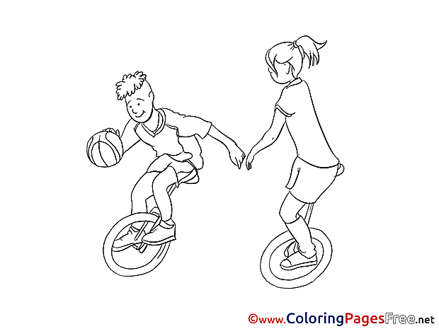 Unicycles Coloring Sheets download free
