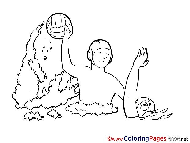Water Polo Kids free Coloring Page