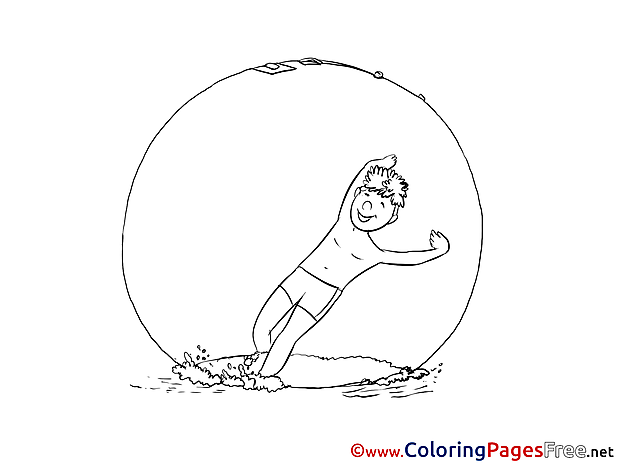 Water Sport printable Coloring Pages for free