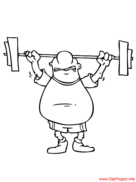 Weightlifter image for coloring free