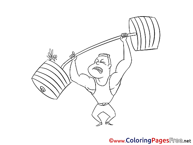 Weightlifter Kids download Coloring Pages