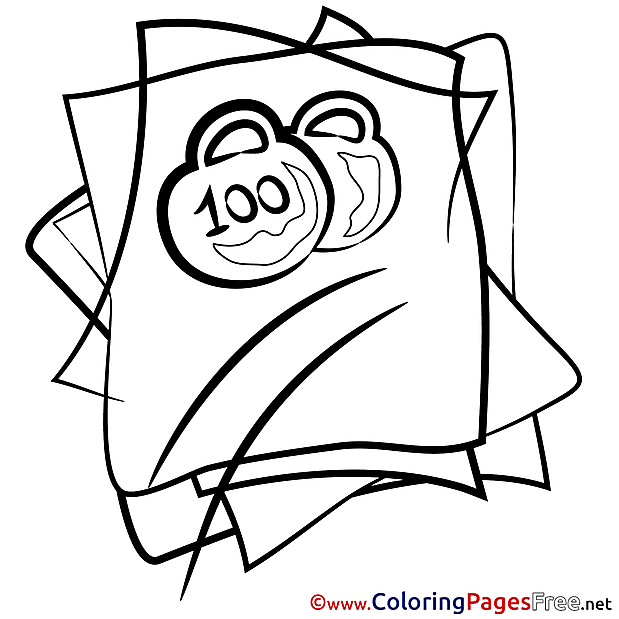 Weights Colouring Sheet download free
