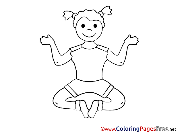 Yoga free Colouring Page download