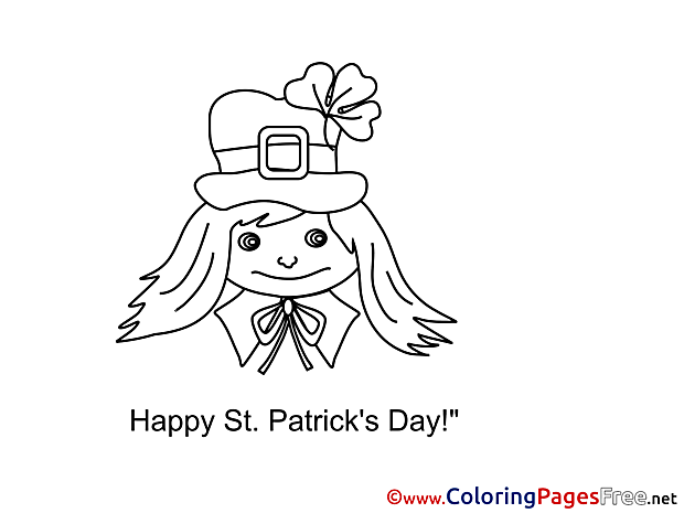 Girl St. Patricks Day Coloring Pages download