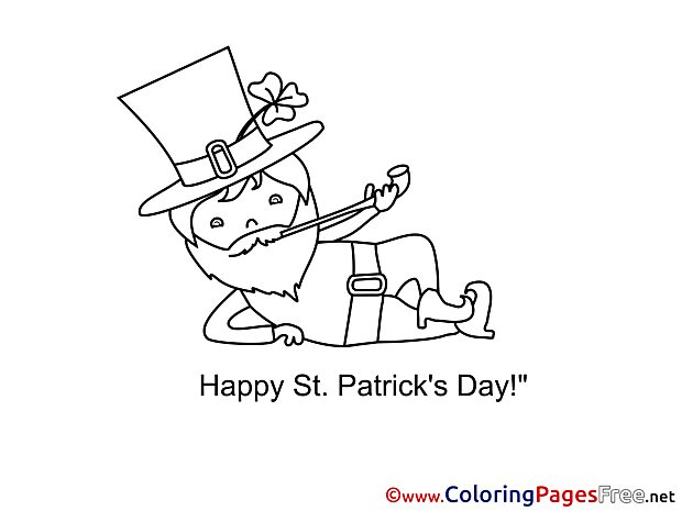 Leprechaun Coloring Sheets St. Patricks Day free