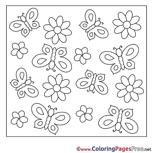 Illustration Summer Coloring Pages free