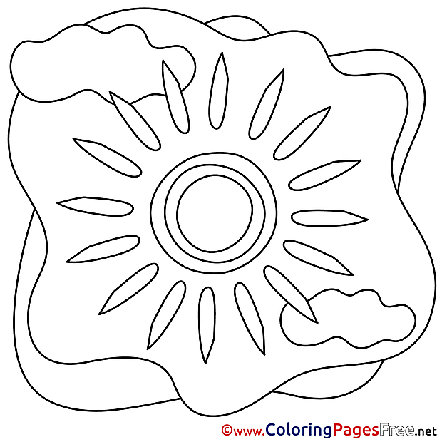 Ray Sun printable Coloring Pages Summer