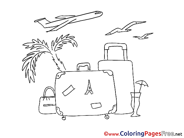 Vacation free Colouring Page Summer