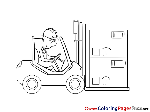 Loader Coloring Pages for free