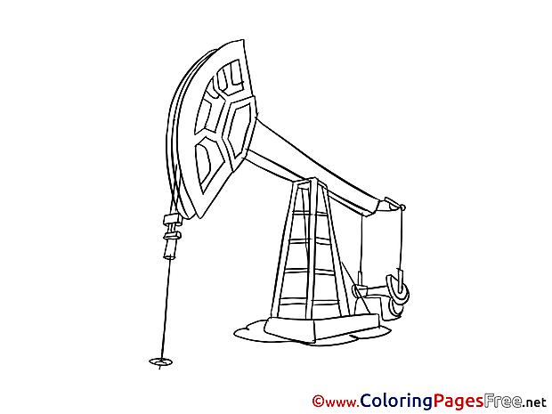 Oil Derrick printable Coloring Sheets download