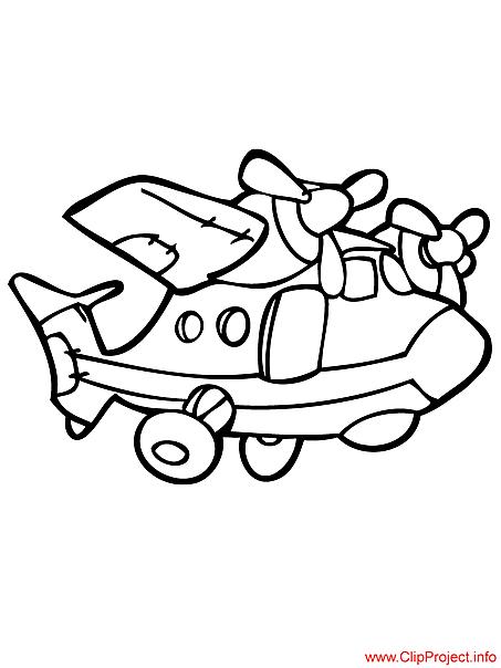 Aircraft coloring sheet