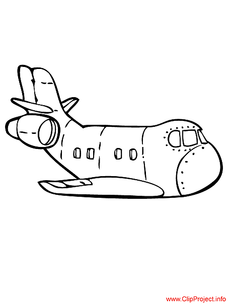 Aircraft image to coloring