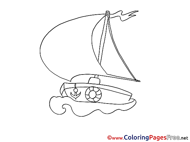 Boat Coloring Pages for free