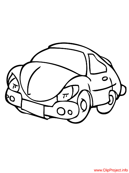 Car coloring page free