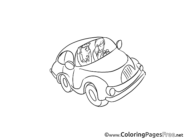 Car Colouring Sheet download free