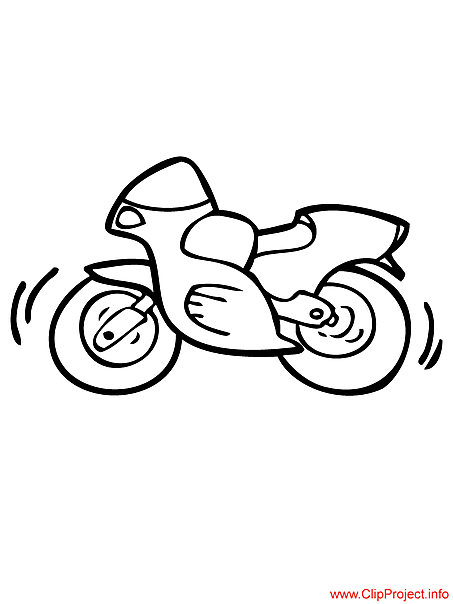 Motorcycle coloring free