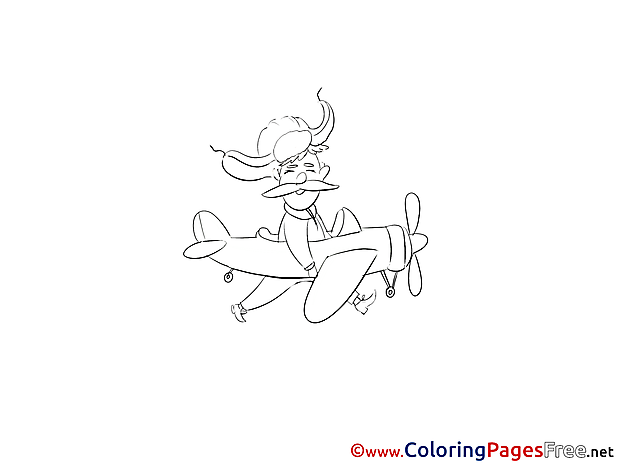 Pilot Coloring Sheets Plane download free