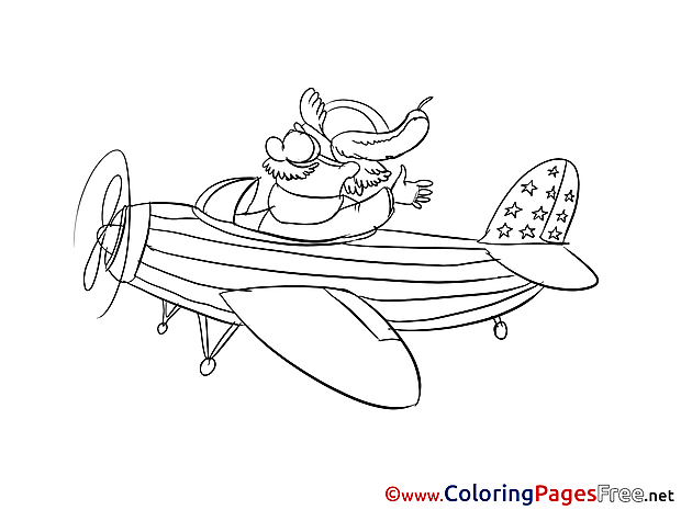 Pilot for free Coloring Pages download