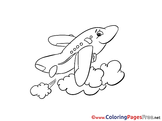 Plane Sky printable Coloring Sheets download