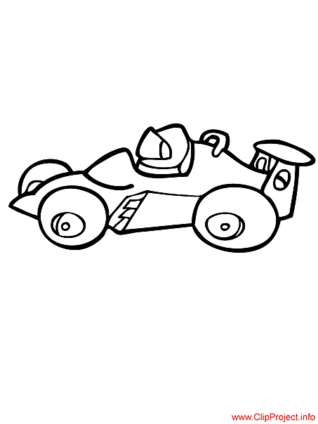 Race car coloring