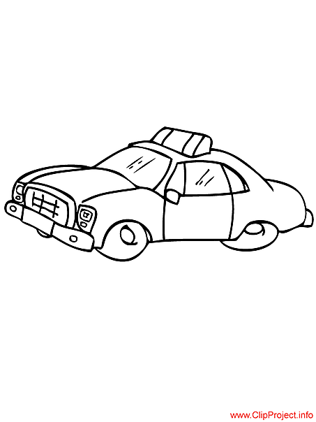 Taxi vehicle coloring page