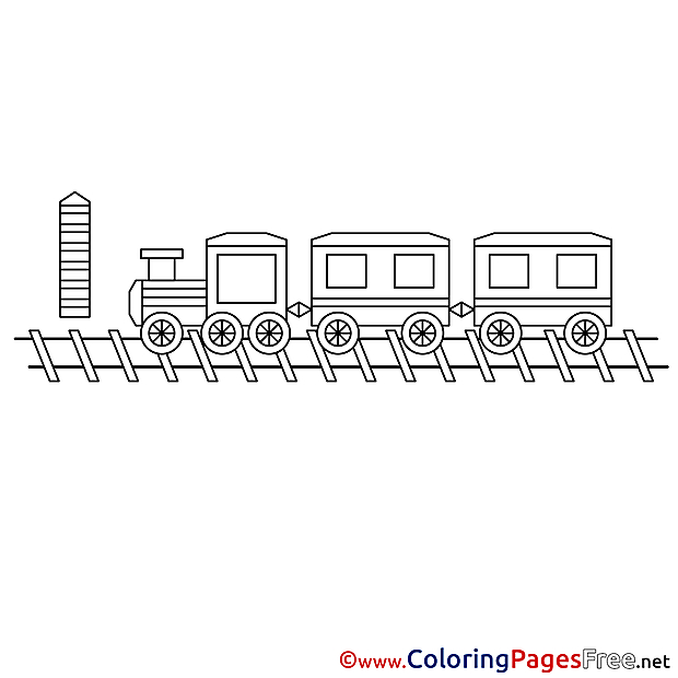 Train Coloring Sheets download free