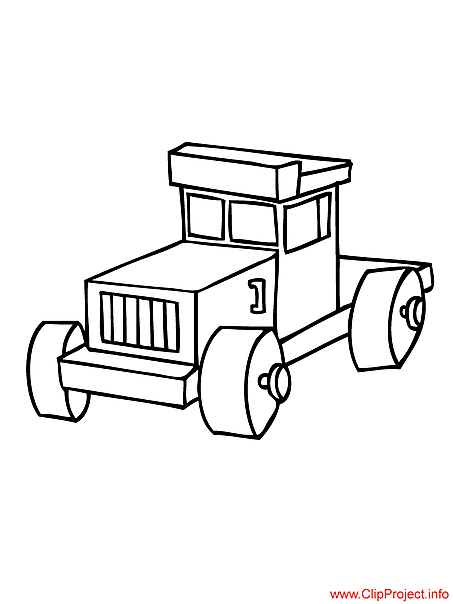 Truck toy image to coloring