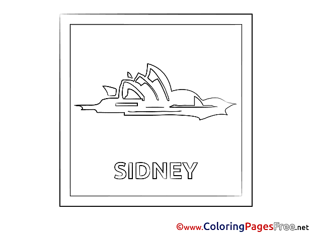 Sydney for free Coloring Pages download