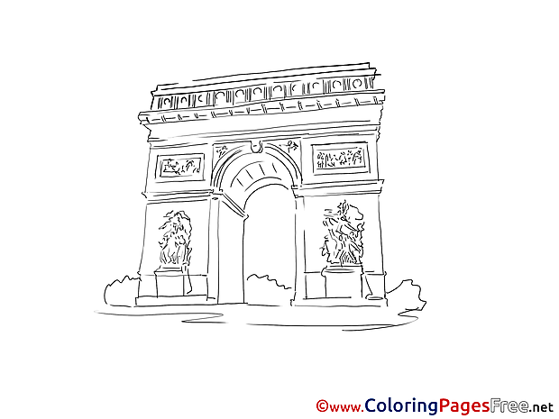 Triumphal Arch Kids free Coloring Page