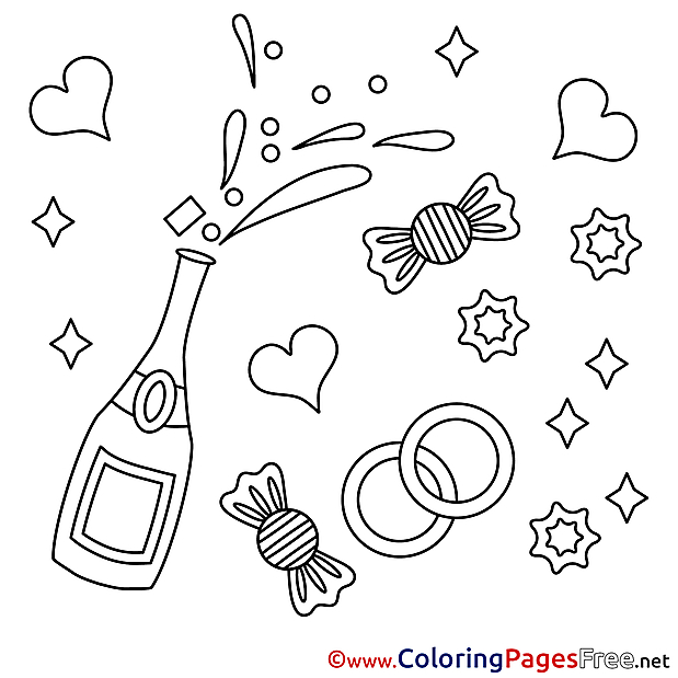 Candies download Valentine's Day Coloring Pages