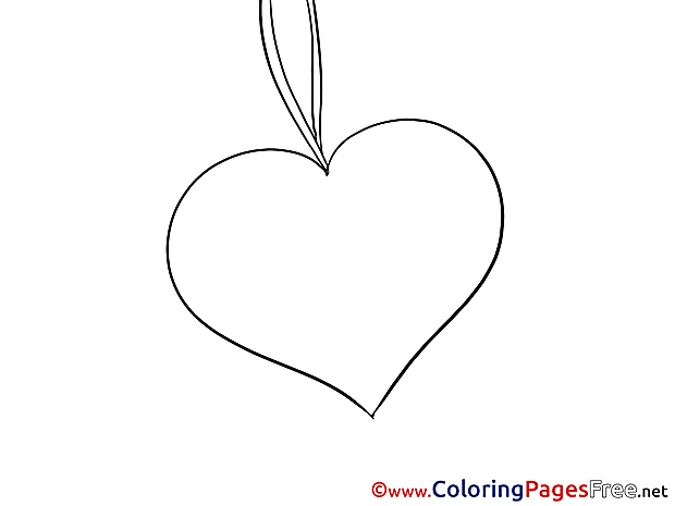 Colouring Sheet download Heart Valentine's Day