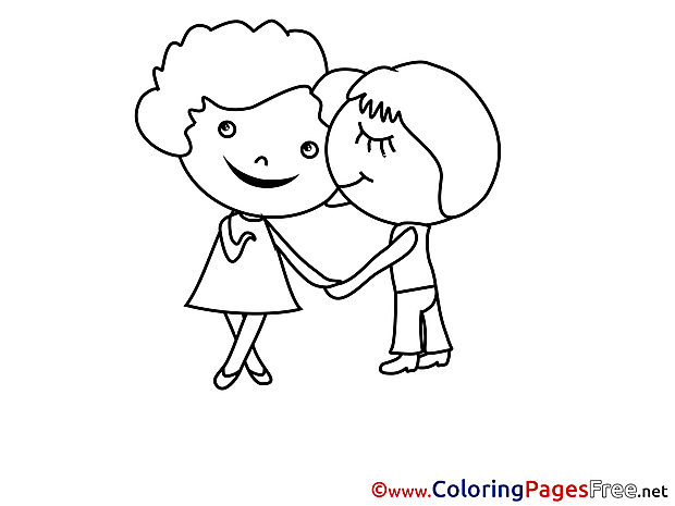 Compliment Valentine's Day free Coloring Pages