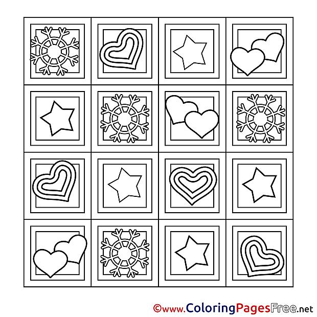 Decoration Kids Valentine's Day Coloring Page