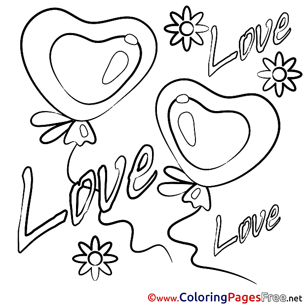 Download Hearts Valentine's Day Coloring Pages