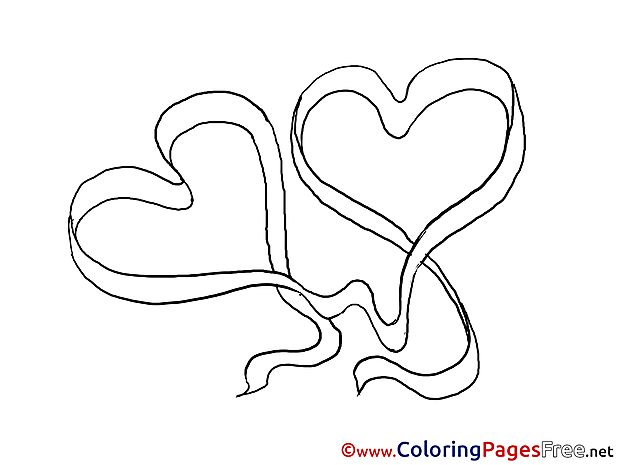 Drawing Hearts For Kids Valentines Day Colouring Page