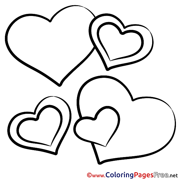 Drawing Hearts printable Coloring Pages Valentine's Day