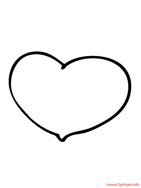 Heart free coloring sheet