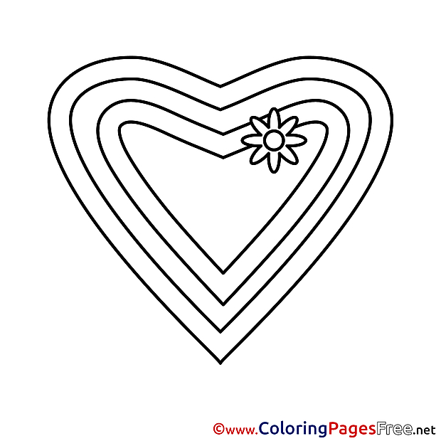 Image Heart free Valentine's Day Coloring Sheets